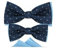 2b5a609745 Apa-fia csokornyakkendő szett - Kék mintás
