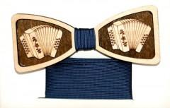 Fa csokornyakkendő szett - Harmónika