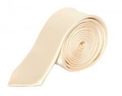 Szatén slim nyakkendő - Pezsgő