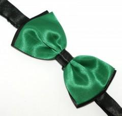 Csokornyakkendő - Zöld-fekete Mintás