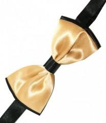 Gyerek szatén csokornyakkendő - Arany-fekete Csokornyakkendő