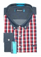 Goldenland extra hosszúujjú ing - Piros kockás Extra méret