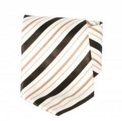 Goldenland nyakkendő - Ecru-barna csíkos