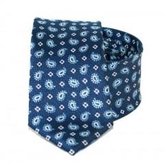 Goldenland slim nyakkendő - Kék törökmintás