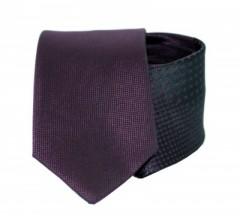 Goldenland slim nyakkendő - Fekete-lila mintás