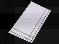 Gyászzsebkendő - Fehér-fekete