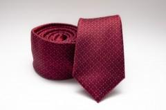 Prémium slim nyakkendő - Meggybordó mintás Aprómintás nyakkendő