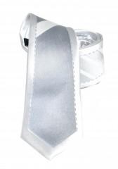 Goldenland slim nyakkendő - Ezüst-fehér