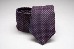 Prémium selyem nyakkendő - Lila pöttyös