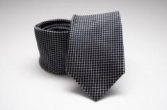 Prémium selyem nyakkendő - Fekete kockás