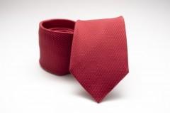 Prémium selyem nyakkendő - Meggypiros pöttyös