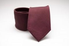 Prémium selyem nyakkendő - Bordó aprópöttyös