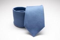 Prémium selyem nyakkendő - Kék aprópöttyös
