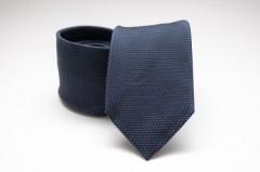 Prémium selyem nyakkendő - Sötétkék aprópöttyös