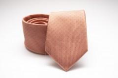 Prémium selyem nyakkendő - Halványbarack pöttyös