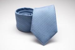 Prémium selyem nyakkendő - Világoskék pöttyös