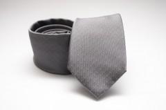 Prémium selyem nyakkendő - Szürke pöttyös