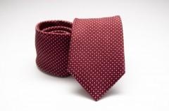 Prémium selyem nyakkendő -  Bordó pöttyös