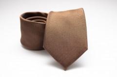 Prémium selyem nyakkendő - Barna