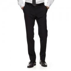 Gyapjús férfi nadrág - Fekete