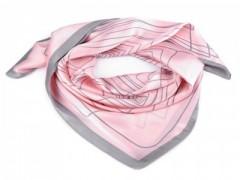 Szatén csíkos kendő - Rózsaszín