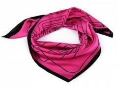 Szatén csíkos kendő - Pink