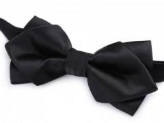 Szatén csokornyakkendő - Fekete Csokornyakkendők
