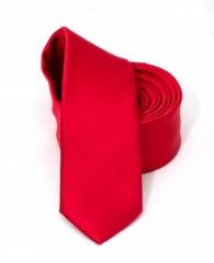 Goldenland slim nyakkendő - Piros szatén