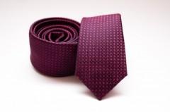 Prémium slim nyakkendő - Lila pöttyös