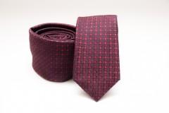 Prémium slim nyakkendő - Piros-bordó kockás