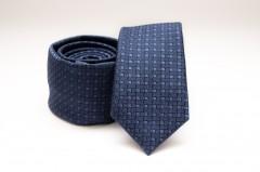 Prémium slim nyakkendő - Kék kockás