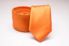 Prémium slim nyakkendő - Narancs szatén