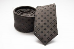Prémium slim nyakkendő - Sötétbarna kockás Kockás nyakkendők