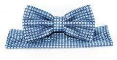 Goldenland csokornyakkendő szett - Kék mintás Szett