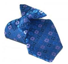 Gumis gyereknyakkendő (mini)  - Kék-lila mintás Gyerek nyakkendők