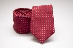 Prémium slim nyakkendő - Piros pöttyös Aprómintás nyakkendő