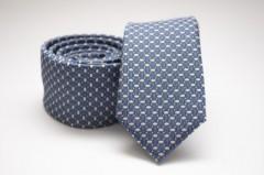 Prémium slim nyakkendő - Acélkék mintás Aprómintás nyakkendő