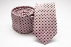 Prémium slim nyakkendő - Púder-fekete pöttyös Aprómintás nyakkendő