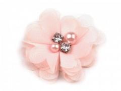 Textil virág - Púder