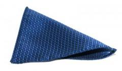 Díszzsebkendő - Kék pöttyös