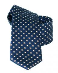 Goldenland slim nyakkendő - Kék aprókockás