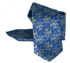Zsorzsett szatén szett - Kék-arany mintás Mintás nyakkendők