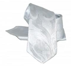 Zsorzsett szatén szett - Ezüst mintás Mintás nyakkendők