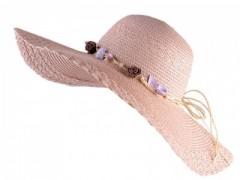 Nyári szalma kalap - Púder