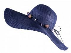 Nyári szalma kalap - Kék
