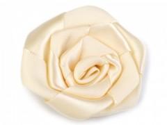 Rózsa kitűző 10 db/csomag - Ecru
