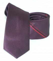 Goldenland slim nyakkendő - Padlizsán csíkos