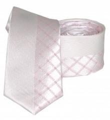 Goldenland slim nyakkendő - Rózsaszín kockás