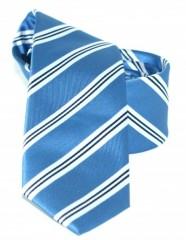 Goldenland slim nyakkendő - Kék csíkos