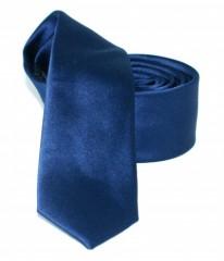 Goldenland slim nyakkendő - Sötétkék szatén